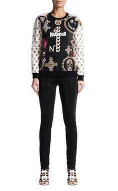 Felpa Donna - Felpe Donna su Just Cavalli Online Store #moda #fashion #bolsos #bags #cuero #leather #zapatos #shoes #marroquineria #leathergoods #cinturones #belts