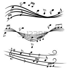 music note: Various music notes on stave