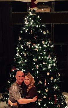 Andre Agassi: Happy Holidays everyone! The Santa hat finally made it to the top...lol