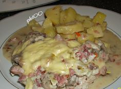 Rezept Überbackene Putenschnitzel mit Kartoffeln von julius 1969 - Rezept der Kategorie Hauptgerichte mit Fleisch