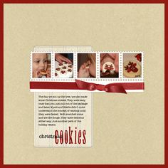 Christmas Cookies - scrapbooking layout