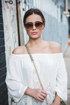 Off The Shoulder Trend | How to wear off the shoulder tops | Uptown with Elly Brown