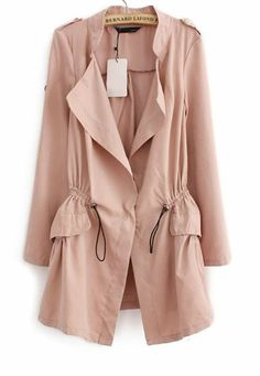 LOVE the shape of this trench, and the pale pink is so sweet (comes in a bunch of other colors too though...) // $32