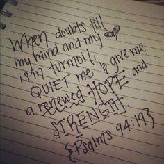 a renewed hope and strength.