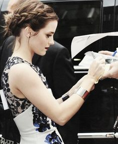 Emma Watson pretty as always! love her outfit :)