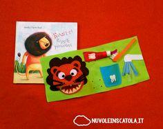 Un libro e un gioco (anzi, una pagina di quiet book) per imparare a lavarsi i denti.