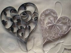 Paper crafts - Paper Quilling ~ Hearts from… Paper Quilling Jewelry, Quilling Paper Craft, Cute Valentine Ideas, Valentines, Arts And Crafts, Diy Crafts, Quilling Patterns, Wedding Scrapbook, Craft Corner