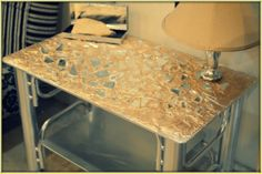 Table Makeover Drab to Glam