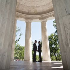 This sweet @Four Seasons Hotel Washington, DC couple chose the DC War Memorial for a monumental moment - and shot.