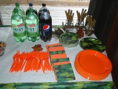 Hunting camo baby shower