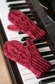 Ravelry: Ambroso mittens pattern by Carol Feller Knitted Mittens Pattern, Knit Mittens, Knitted Gloves, Knitting Patterns, Red Mittens, Hat Patterns, Stitch Patterns, Beginner Knitting Projects, Knitting Tutorials