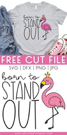Cricut Svg Files Free, Free Svg Cut Files, Flamingo Shirt, Flamingo Craft, Silhouette Projects, Silhouette Cameo, Cricut Creations, Diy Shirt, Svg Cuts
