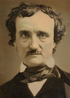 A daguerreotype  portrait of Edgar Allan Poe from 1849 - Here's the full article that was published — from his words, it's clear that Poe had a good grasp of how game-changing the camera would be in history. Click for a fascinating read.