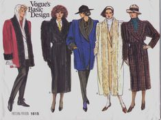 80s Vogue Basic Design Pattern 1615 Womens Long or by CloesCloset, $12.00