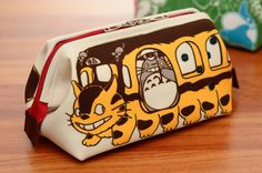 My Neighbour Totoro Summer Fashion Accessories / Cosmetic / Makeup / Travel Pouch (Neko Bus / Cat Bus Version)