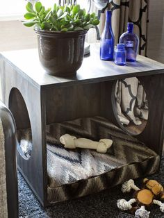 How to Make a Plywood Pet Bed and Occasional Table : Home Improvement : DIY Network