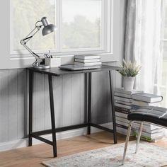 Homestar Oberon Writing Desk in Dark Oak Finish - Walmart.com