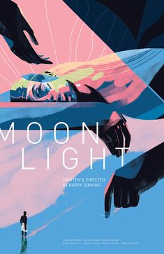 New Posters: MOONLIGHT by Sara Wong & SILENCE by Jonathan Burton! Tomorrow we have a pair of beautiful posters for two iconic films that came out in the last few years: MOONLIGHT and SILENCE. Both will be available tomorrow at a random Film Poster Design, Movie Poster Art, New Poster, Film Posters, Theatre Posters, Color Concept, Beste Comics, Game Design, Design Color