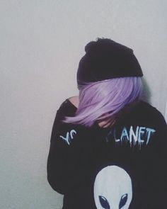 Pastel goth boy. Customized sweatshirt.
