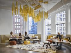Partners by Design have developed a new office design for digital advertising software company Centro located in Chicago, Illinois. A developer of digital Corporate Office Design, Corporate Interiors, Workplace Design, Office Interiors, Corporate Offices, Commercial Interior Design, Commercial Interiors, Office Lobby, Office Decor