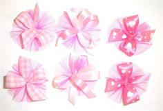 AC0912 - Pink Gingham Hair Bow Collection