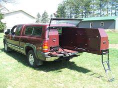 Gear Storage on Wheels. Truck C&ingJeep TruckFord TrucksCustom Truck BedsCustom ... & 81 best Truck bed storage images on Pinterest | Truck bed storage ...
