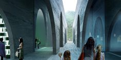 Image 49 of 50 from gallery of BIG Selected to Design San Pellegrino Factory and Headquarters in Northern Italy. Photograph by BIG San Pellegrino, Big Architects, Win Competitions, Details Magazine, Italy Images, Water Branding, Famous Buildings, Big Design, Maritime Museum