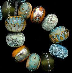 DSG Beads Handmade Organic Lampwork Glass - Made To Order (Crispy Autumn)