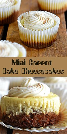 Angel cake with carrots, sweet spice cream - HQ Recipes Mini Carrot Cake, Carrot Cake Cheesecake, Mini Cheesecake Recipes, Cheesecake Cupcakes, Mini Desserts, Just Desserts, Delicious Desserts, Yummy Food, Carrot Cake Loaf