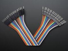 "Premium Male/Male Jumper Wires - 20 x 6"" (150mm)"