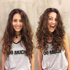Do you like your wavy hair and do not change it for anything? But it's not always easy to put your curls in value … Need some hairstyle ideas to magnify your wavy hair? Curly Hair Tips, Curly Hair Styles, Wavy Hair 2b, Perms For Long Hair, Wavy Hair Care, Long Curly Haircuts, Medium Permed Hairstyles, Deva Curl, Medium Hair Cuts