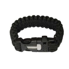 OmeGod® Outdoor Survival Paracord Rope Bracelet with Magnesia Fire Starter Stainless Scraper and Whistle -- You can get more details by clicking on the image.