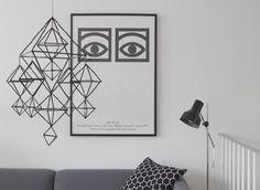 Himmeli and Olle Eksell Line Sculpture, Olle Eksell, Industrial Scandinavian, Scandinavian Interior, Monochrome Interior, Modern Interior, Swedish Design, Handmade Ornaments, Apartment Interior
