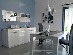 Ideas para #decorar #salones. Ambiente Electra en color #blanco.