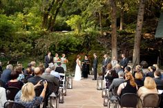 Outdoor Fall Wedding on Waterfall Patio