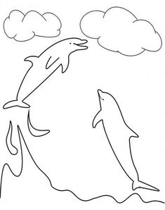 Dolphin Can Catch The Clouds Here At Colorkiddo Coloring Page : Kids Play Color