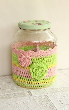 Sweet jar cover, pastels inspiration