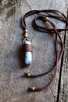 Blue Stone Necklace Kyanite Spiritual by WildPeopleFreeSpirit