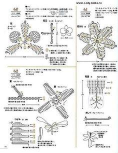 Crochet mini motif 100  Flowers, fruit, beautiful leaves. #Asahi #original #Japanese #crochet #book