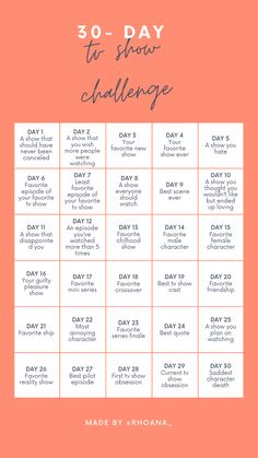 tv show challenge (template) very useful during this quarantine 30 Day Instagram Challenge, Music Challenge, 30 Day Song Challenge, Challenge Games, Bingo Template, Templates, Must Watch Netflix Movies, Love Questions, Tv Series To Watch