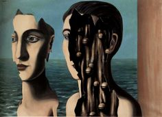 rené magritte - the double secret/le double secret, 1927 [surrealism - surrealist paris years - symbolic painting] are we real? when are we real? why do we wear masks? Rene Magritte, Artist Magritte, Paul Gauguin, Conceptual Art, Surreal Art, Surreal Portraits, What Is Surrealism, Surrealism Painting, Magritte Paintings
