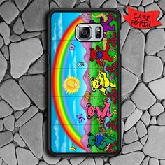 Dancing Bear In The Park Samsung Galaxy S7 Edge Black Case