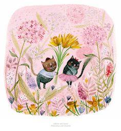 Louise A. Ellis - Illustrator: Adeline and Jimmy Pattern Illustration, Daffodils, Gouache, Childrens Books, Giclee Print, Print Patterns, Illustrator, Valentines, Etsy Shop