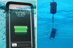 This iPhone case is waterproof, shockproof, dirt proof AND it's a backup battery pack