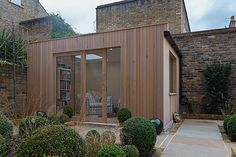 """""""London garden studios specialises in bespoke garden architecture. Whether you just want a garden studio or would like your whole garden landscaped around a studio, we can design a solution to meet your needs at a competitive price. London Garden, Garden Studio, Garden Office, Garden Architecture, Outdoor Living, Outdoor Decor, Shed Plans, Back Gardens, Beautiful Gardens"""