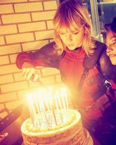 My queen... Taylor Swift dressed as spider man at the girls Halloween party 2016
