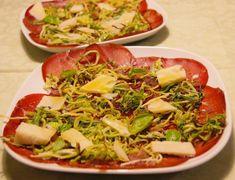 Carpaccio di bresaola con zucchine croccanti