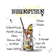 Heute gibt es für euch den #Bernstein.  Das ganze #Rezept findet ihr hier: http://happyhour.mask-energy.com/Bernstein.pdf  Um euch euren benötigten #Energy Kick für diesen Cocktail zu beschaffen, schaut in unserem #OnlineShop vorbei:   http://shop.mask-energy.com/startseite/mask-energy-drink-24x250ml-pfandfrei.html