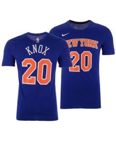 Nike Men s Kevin Knox New York Knicks Icon Player T-Shirt - Blue XL School dd650ac01