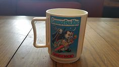 1986-Garbage-Pail-Kids-Plastic-Mug-Cup-Nasty-Nick-Double-Heather-Ray-DeCay